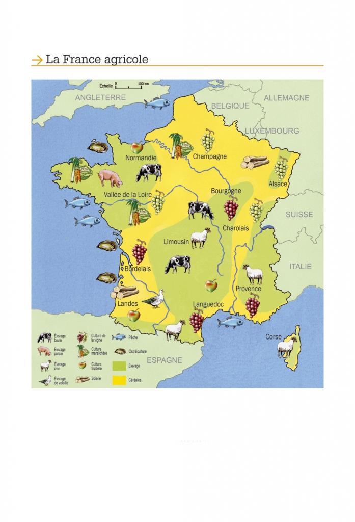 Carte de la France agricole